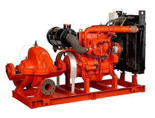 China 80hp irrigation water diesel engine fire pump Base Mounted 60hp Suction Flapper 100GPM supplier