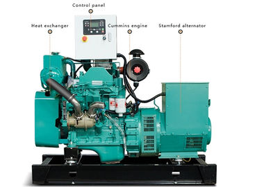 China 12kw Cummins Marine Diesel Genset With 4bt3.9 Diesel Engine ISO9001 Compliant distributor