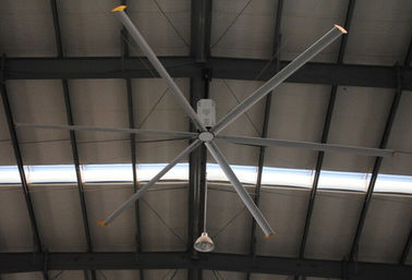 buy HVLS Energy Saving Large Industrial Ceiling Fan , 24 inch Workshop Ceiling Fans online manufacturer