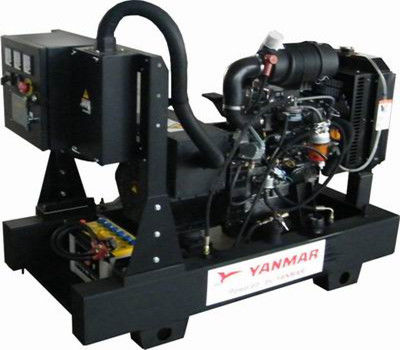 Automatic Industrial 10kva Yanmar Diesel Generator With 3TNV82A Engine 0