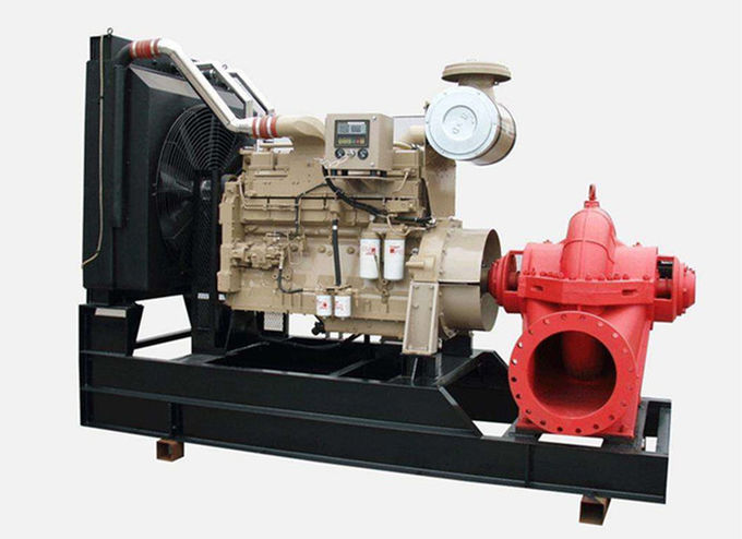 350GPM cummins diesel engine fire pump set 200hp horizontal stainless impeller water Irrigation